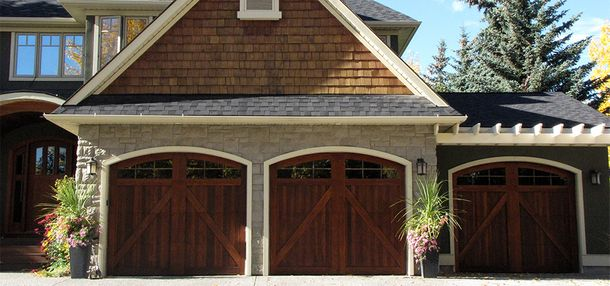 wood carriage style doors